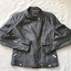 Jackets & Blazers - Grey leather jacket